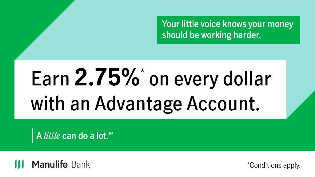 Manulife Bank 2.75% Promotion