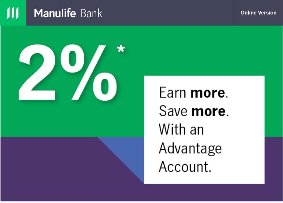 Manulife Bank 2% promotion